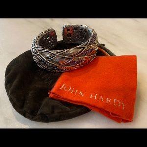 John Hardy silver/amethyst/gold cuff